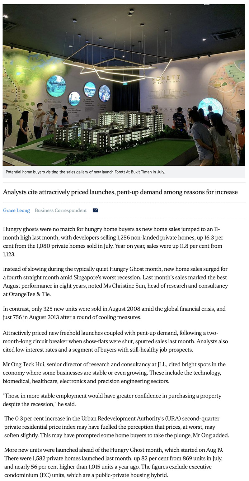 Penrose - New home sales surge to 11-month high in August 1